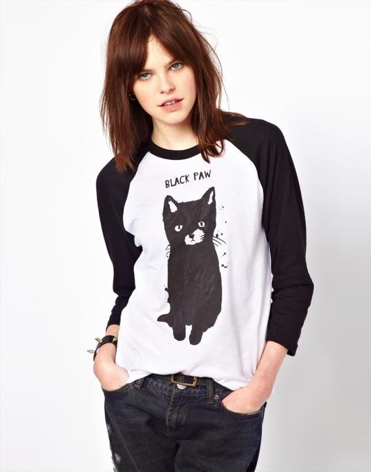 T-Shirt Black Paw by BLACK SCORE BY SIMEON FARRAR