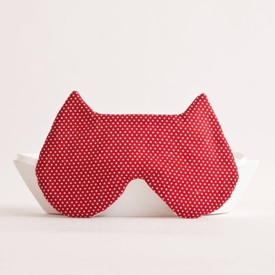 Cat sleep mask by Julia Wine, picture via etsy.com