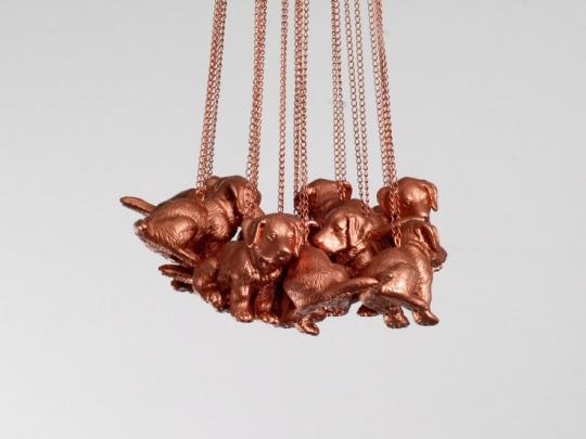 Hundekette bronze von farbgrau
