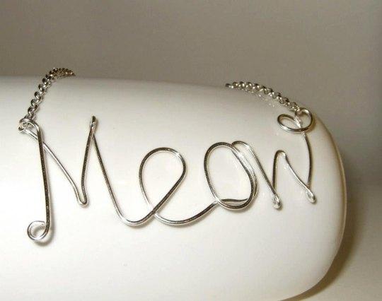 Miau Halskette Draht von flonightingales bei Etsy